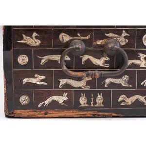 South German Renaissance Bone Inlaid Casket