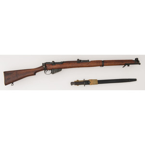 ** Lithgow British Enfield Mk. III Rifle with Bayonet and Austrian Police Markings