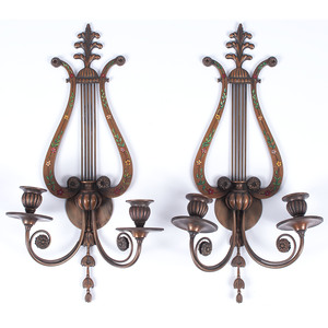 E. F. Caldwell Classical-style Sconces