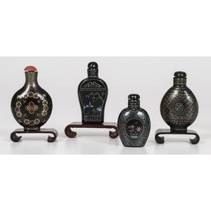 Mother-of-Pearl and Lacquer Snuff Bottles