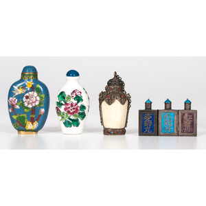Cloisonné and Assorted Snuff Bottles