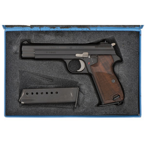 * Sig Arms P 210-6 Pistol with Factory Blue Box and Test Target