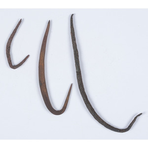 Old Copper Culture Fish Hooks, From the Collection of Roger Mussatti, Michigan