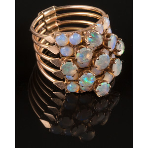 14k Gold Opal Stack Ring