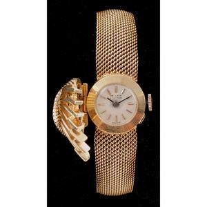 Spritzer & Fuhrmann 18k Yellow Gold Surprise Watch