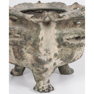 Chinese Bronze Dragon Censer