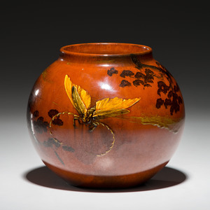 Rookwood Pottery Red Clay Vase, Matthew Daly