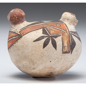 Acoma Polychrome Pottery Bird Canteen