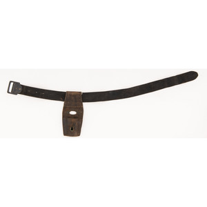 Union Navy Enlisted Man's Black Buff Leather Belt with Black Japaned Iron Buckle