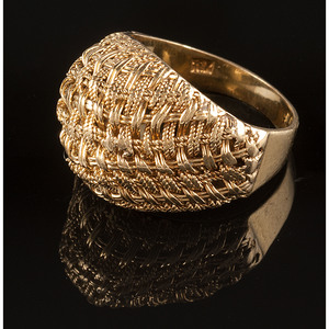 18k Gold Woven Style Ring