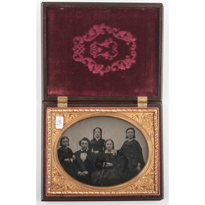 Half Plate Union Case, Washington Monument with Seraphs and Eagles Border, Brown [Berg 1-3S/1-7]