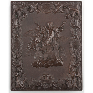 Very Rare Half Plate Union Case, The Vision of Ezechiel, Dark Brown [Berg 1-9]
