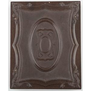 Half Plate Geometric Union Case, Brown, [Berg 3-5]