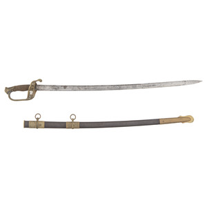 Inscribed Model 1850 Staff and Field Officer's Sword Identified to Lieut. M. Friday, Co. F., 100th N.Y. with Docs