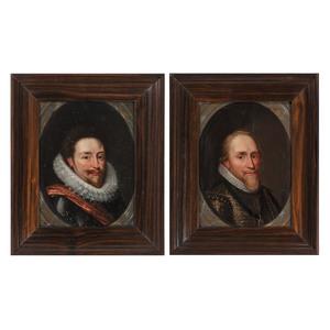 Dutch School, Two Portraits of Men in the Manner of Michiel Jansz Van Miereveld