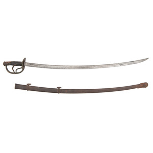 M1860 Cavalry Saber dated 1864 with Confederate Attribution