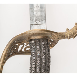 Presentation Grade Staff and Field  Officer's Sword with Scabbard