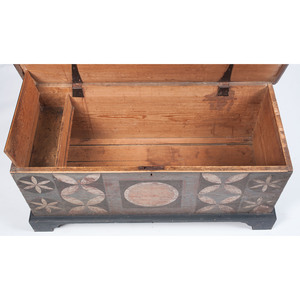 Rare and Important Johannes Spitler Painted Shenandoah Valley Blanket Chest