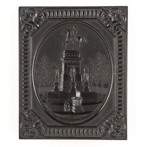 Quarter Plate Union Case Washington Monument, Richmond, Va., Black [Berg 1-17S/3-16]