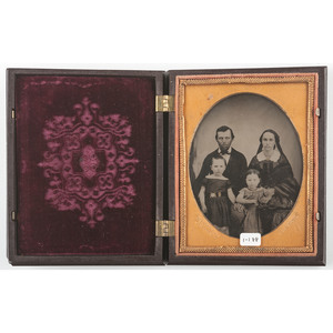Scarce Quarter Plate Union Case, Union and Constitution 1, Dark Brown [Berg 1-19]