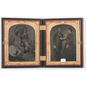 Very Rare Quarter Plate Union Case, Morning-Day, Aurora with the Genius of Light 1, Black [Berg 1-30]