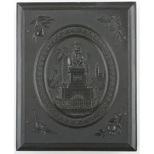 Rare Quarter Plate Union Case, The Indian Monument, Havana, Cuba, Black [Berg 1-25/1-26]