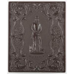 Rare Quarter Plate Union Case, Sir Henry Havelock, Dark Brown [Berg 1-27]