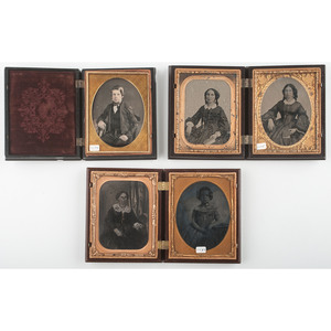 Trio of Scarce Quarter Plate Union Cases [Berg 1-35, 1-36, 1-39]