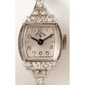 Lady Elgin Platinum Wrist Watch