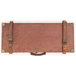 Leather Trunk Style Case for a Pair of Evans Shotguns