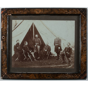 Civil War Photograph of a Union General and Staff