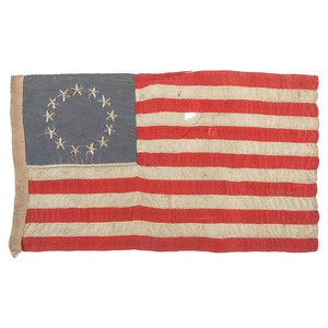 13-Star Silk Flag Possibly Made by Betsy Ross' Granddaughter