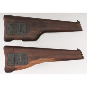 Lot of Two Browning Hi-Power Wood Shoulder Stocks