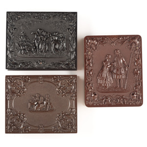 Three Rare and Scarce Quarter Plate Union Cases [Berg 1-29R, 1-39, 1-41]