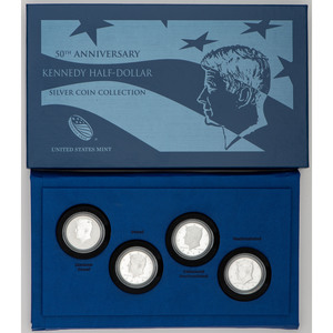 United States 50th Anniversary Kennedy Half Dollar Silver Coin Collection