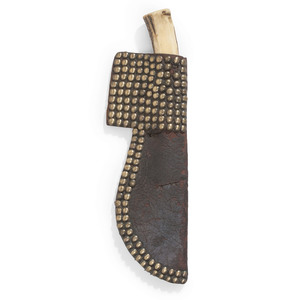 Northern Plains Tacked Knife Sheath with Knife