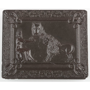 Very Very Rare Quarter Plate Union Case, Daniel in the Lion's Den, [Berg 1-32]