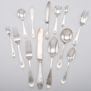 International Silver Sterling Flatware Service, Van Dyke, Plus
