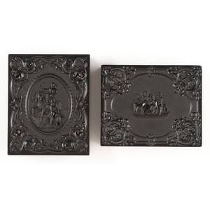 Pair of Quarter Plate Union Cases [Berg 1-36, 1-40]