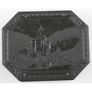 Very Rare Quarter Plate Union Case, Medieval Castle [Berg 1-47]