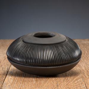 Nancy Youngblood (Santa Clara, b. 1955) Carved Blackware Pottery Jar