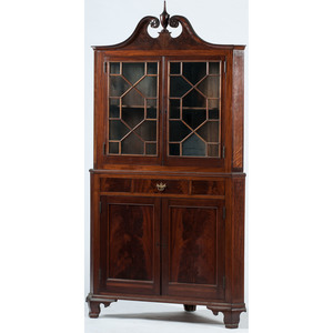 Chippendale-style Corner Cupboard
