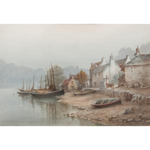 Charles E. Hannaford (British, 1863-1955) Watercolor