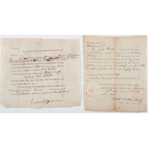 Early Ohio Documents Signed by Edward Tiffin and David Sutton