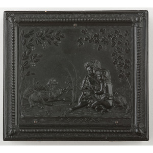 Very Very Rare Sixth Plate Union Case Children with Pets 2 [Berg 1-101], Containing Daguerreotype of Woman
