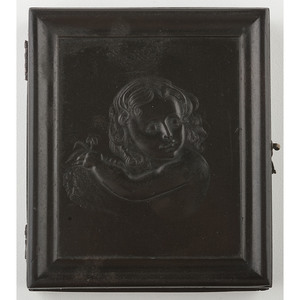 Very Very Rare Sixth Plate Union Case, Childhood [Berg 1-103], with Daguerreotype of a Boy
