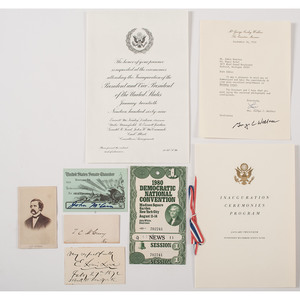 Political Ephemera, Autographs, Plus