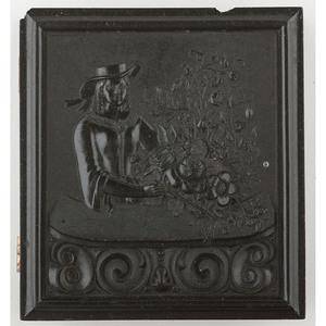 Unique Sixth Plate Union Case, Lady Arranging Flowers [Berg 1-201]