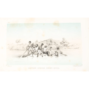 """[Western Americana] Heap, """"Central Route to the Pacific,"""" 1854 with 13 Tinted Lithographs, Famous Map in Facsimile"""