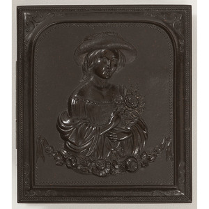 Unique Ninth Plate Union Case, Child with Bouquet [Berg 1-155]